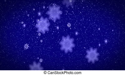 snow - blue snow background