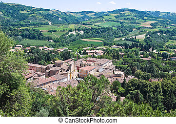 Panoramic view of Brisighella Emilia-Romagna Italy