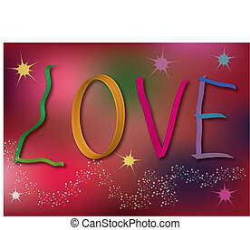 Love background with abstract