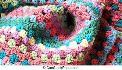 Granny stitch crochet blanket