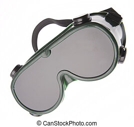 Welding goggles isolated on plain background