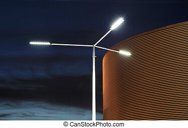 Street lights - Lower view of modern street lights at night