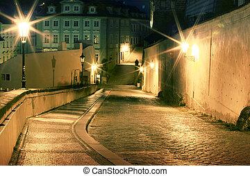 Lesser Town at night - Lesser Town at night, Prague, Czech...