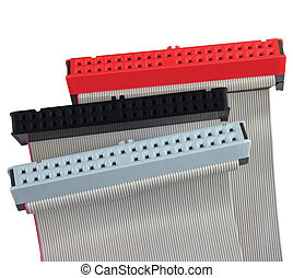 IDE connectors and ribbon cables for hard drive on PC