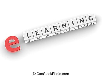 e Learning - Rendered artwork with white background