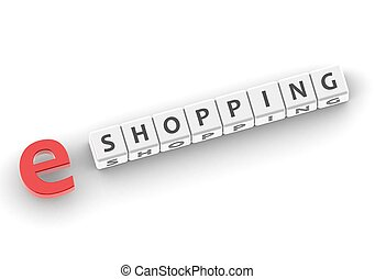 e Shopping - Rendered artwork with white background