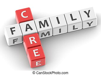 Family care - Rendered artwork with white background