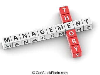 Management theory - Rendered artwork with white background