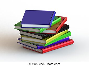 Books - Rendered artwork with white background