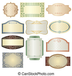 Vintage frames - A vector illustration of different vintage...