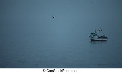 Fishing Boat In Fog