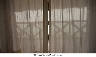 Curtains In Wind