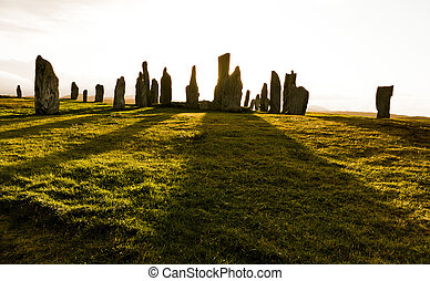 standing stones of callanish - The Callanish Stones are an...