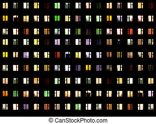 Seamless texture - night windows - Seamless texture from set...