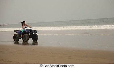 Quad Trip At Beach