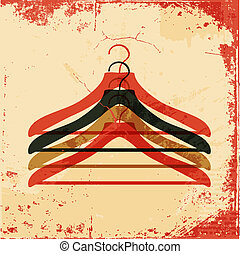 clothes hanger retro poster