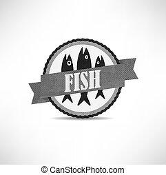 vintage retro fish labels