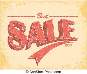 Sale Vintage Poster Vector