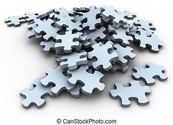 3d puzzle peaces