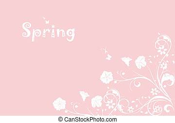 Spring Pink Background - Beautiful spring pink background of...