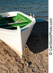 Boat - Small fishing boat resting on a beach