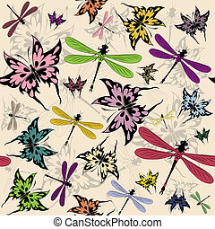 seamless pattern with butterflies - Vector seamless pattern...