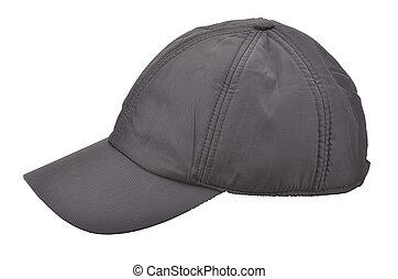 Cap isolated - Black Baseball Cap isolated on white