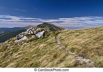 Mountain in autumn - Beautiful mountain in autumn - Mala...