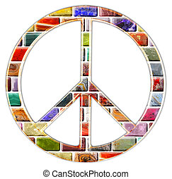 peace sign - A peace sign from gemstone