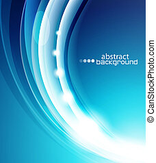 Business creative abstract background - Abstract blue wave...