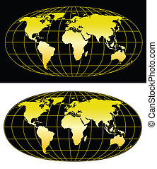 World map - High detailed world map. Vector eps8. Separate...