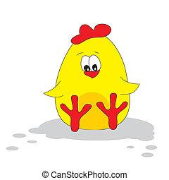 Cute chicken. Vector illustration.