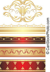 Gothic ornament Pattern for frame Vector illustration
