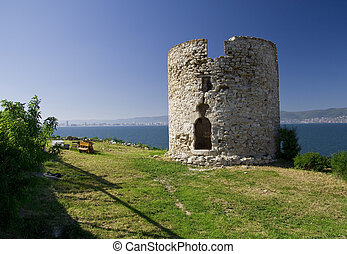 Nesebar tower, photo taken in Nesebar - Bulgaria