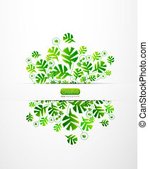Vector nature leaves background