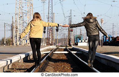 Friendship through the distance - Young female friends...
