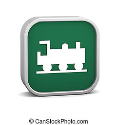 Train Sign - Train sign on a white background. Part of a...