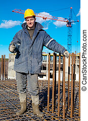 Positive construction worker