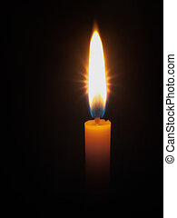 Yellow candle bright light - One Yellow candle bright light...