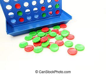 Quatro, linha, Bingo, Jogo, isolado, branca, fundo