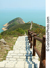 Hiking path in Hong Kong