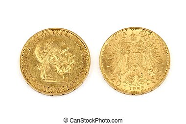 Old gold coins - More than 100 years old gold coins - 20...