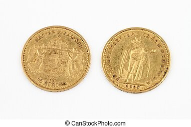 Old gold coins - More than 100 years old gold coins - 10...