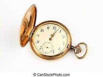 Golden pocket watch older more than 100 years.