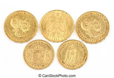 Old gold coins - More than 100 years old gold coins - 10 and...