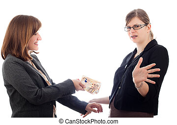 Business women bribery - Two corrupted business women bribe...