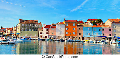 old Istrian town in Novigrad, Croatia. - old Istrian town in...