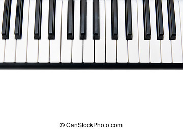 Closeup of Electronic Piano Keyboard