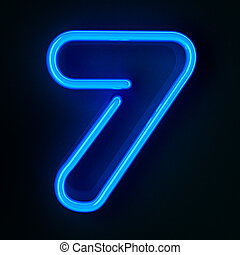 Neon Sign Number Seven