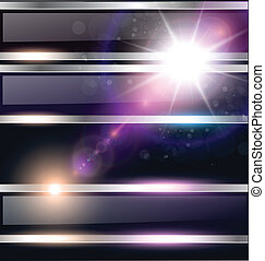 Abstract background, cosmic with glowing star, vector